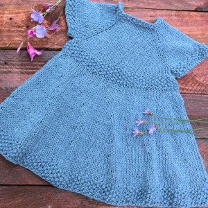 baby girl knitting dress free pattern