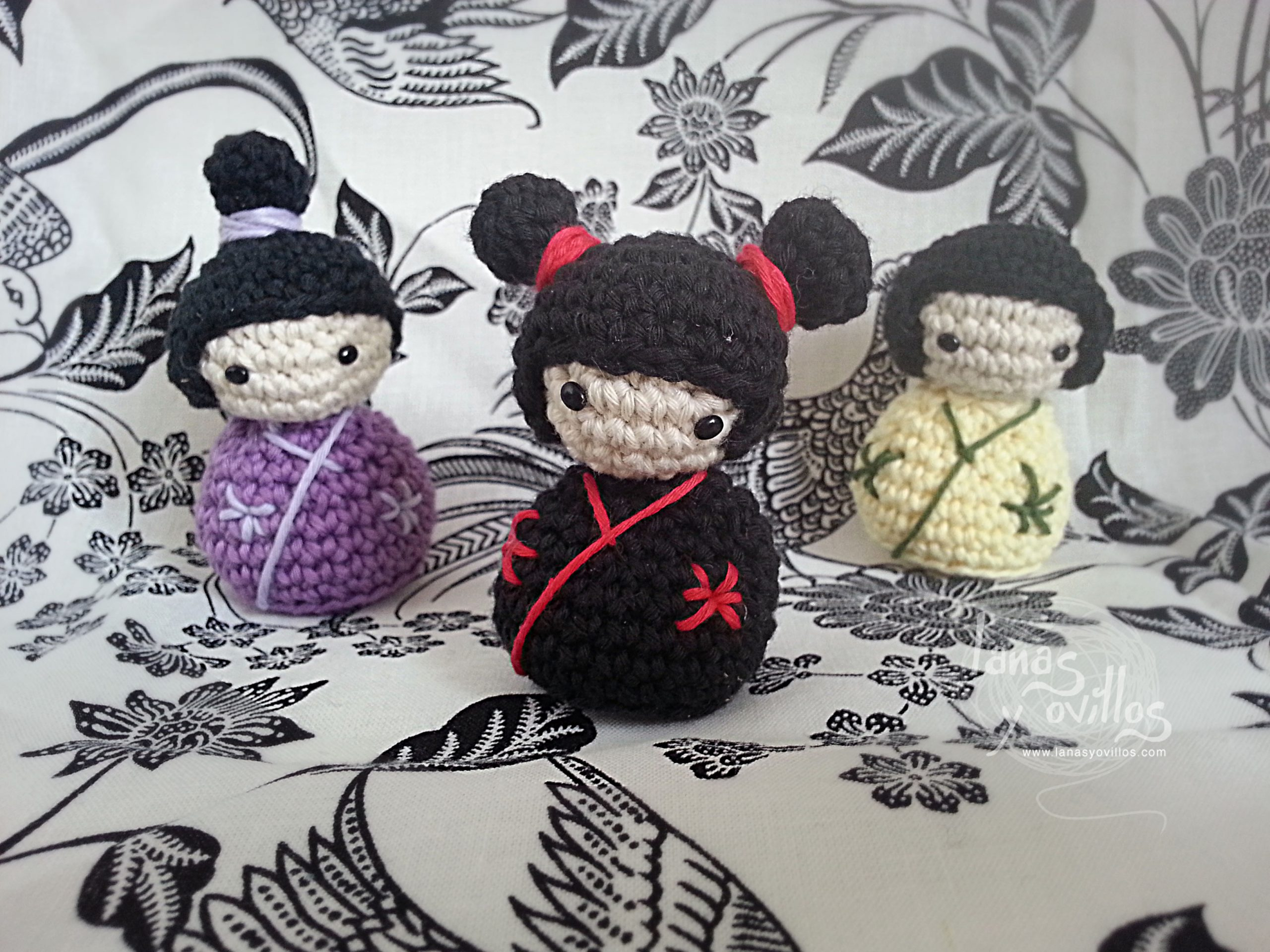 kokeshi japanese doll amigurumi free pattern with video tutorial