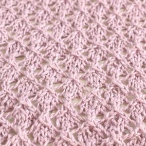lace diamonds stitch knitting free pattern