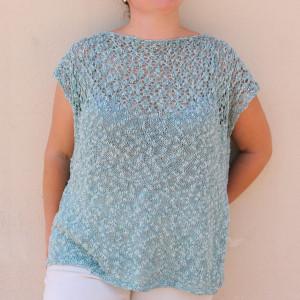 lace knitting blouse free pattern