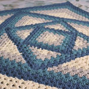 caleidoscope granny stripes blanket free crochet pattern