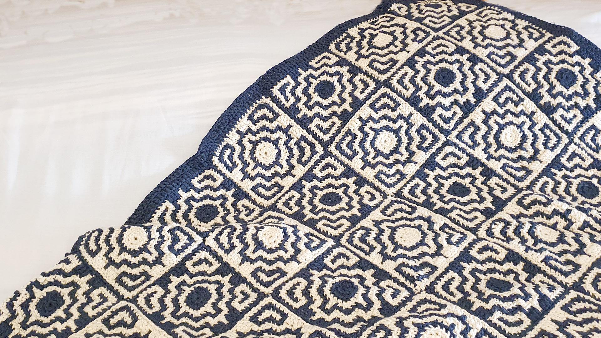 mosaic crochet blanket free pattern