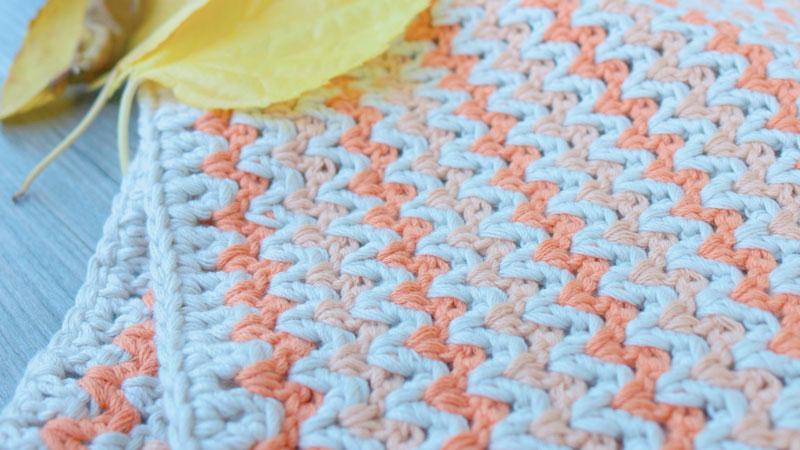 v stitch blanket free crochet pattern