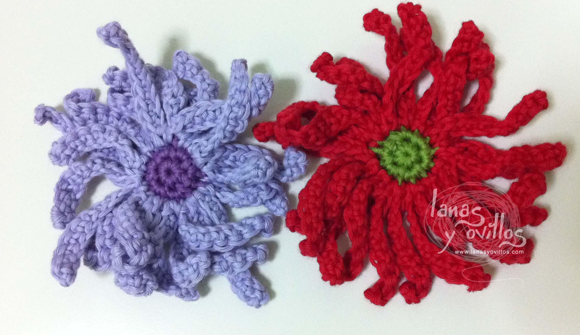daisy flower crochet free pattern with video tutorial