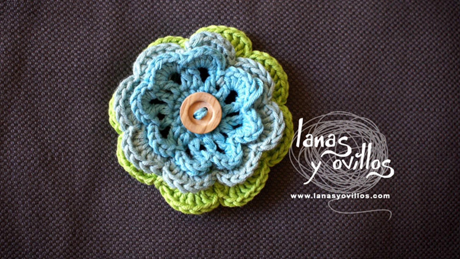 crochet flower free pattern with video tutorial