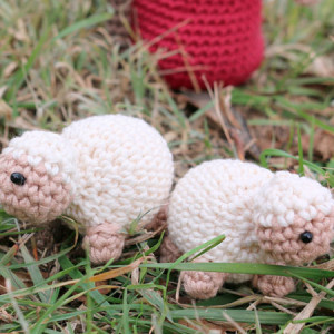 tiny sheep nativity amigurumi crochet free pattern