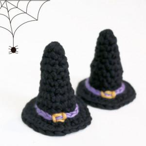 mini tiny witch hat crochet free pattern