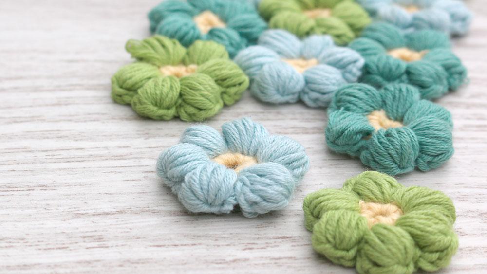 mollie flowers crochet puff free pattern