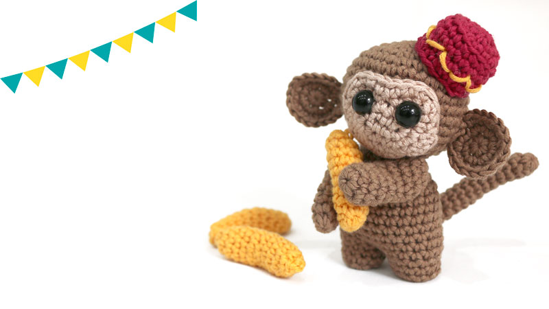 monkey circus amigurumi free pattern crochet