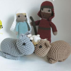 nativity animals amigurumi free pattern crochet