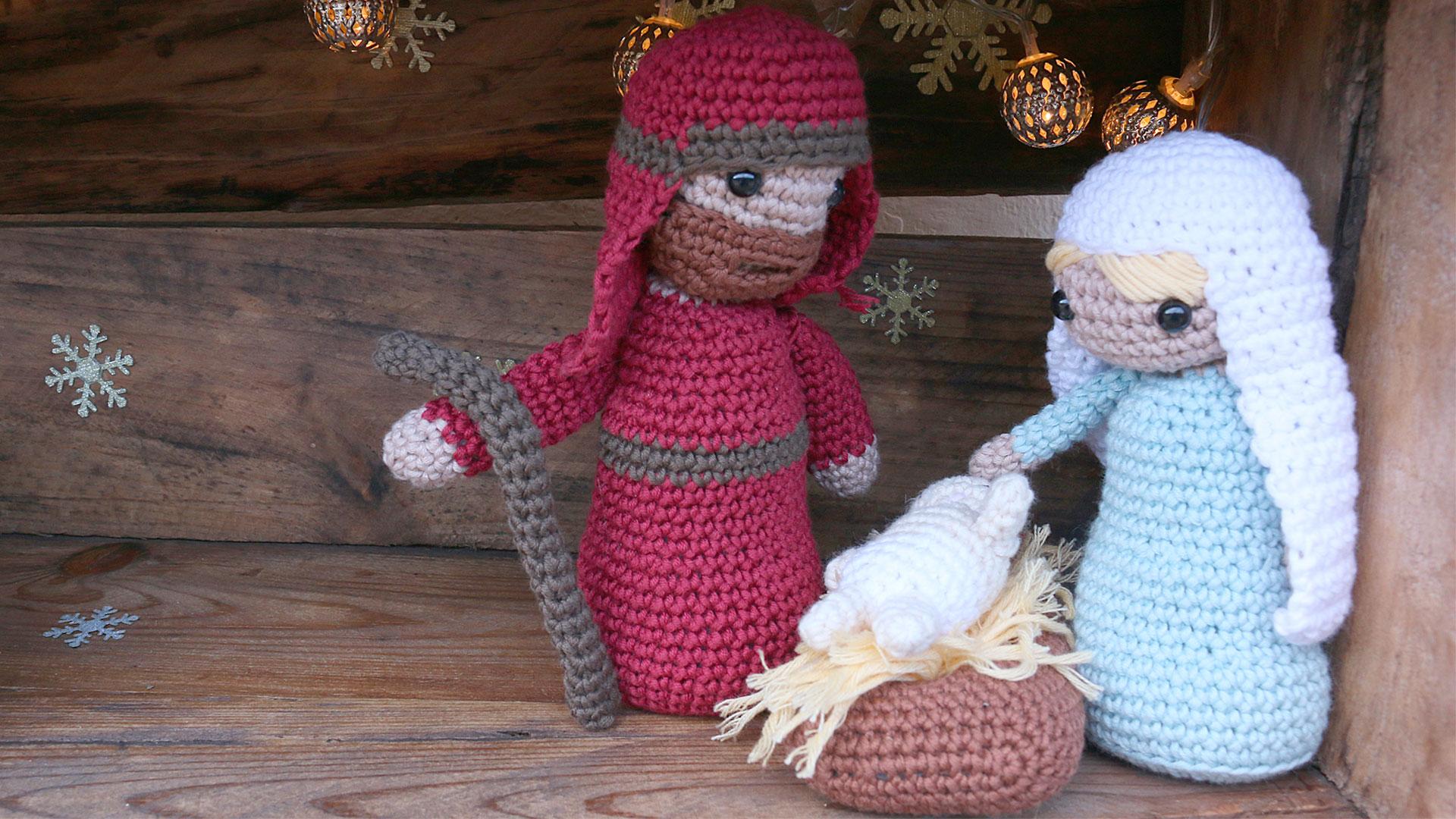 nativity christmas amigurumi crochet free pattern with video tutorial