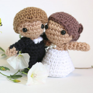 wedding detail amigurumi crochet