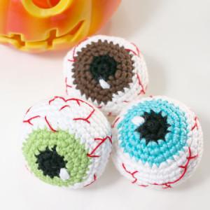 bloody eyes halloween amigurumi free crochet pattern