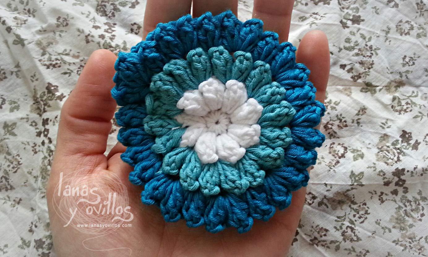pop corn flower crochet free pattern