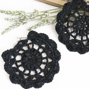 round earings crochet free pattern