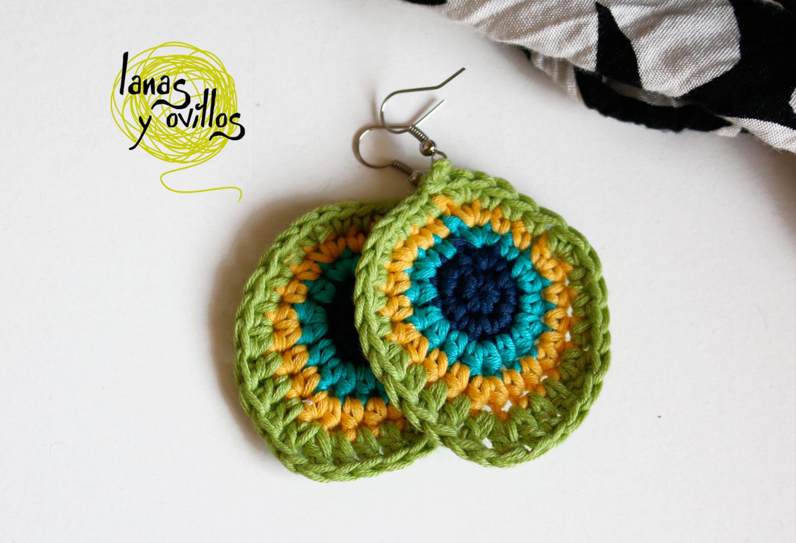 peacock earings crochet free pattern