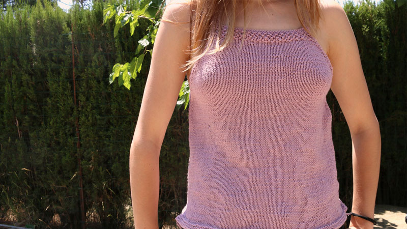 free knitting blouse top pattern easy