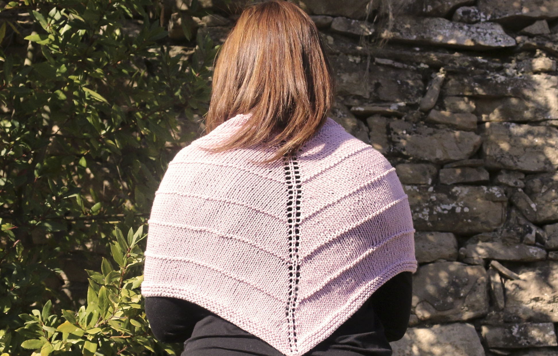 basic easy knitting triangular shawl free pattern