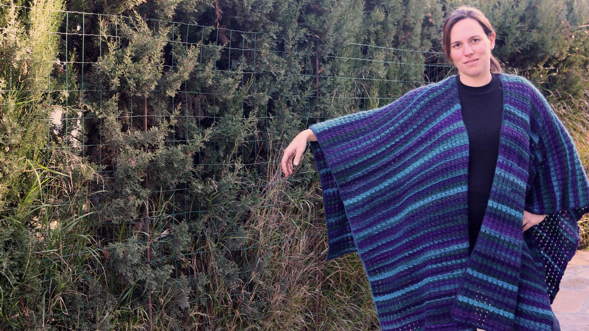 poncho cape tunic free crochet pattern