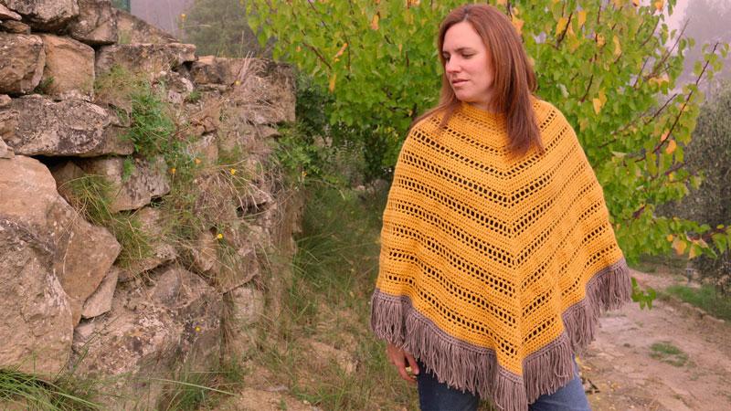 free crochet poncho pattern easy