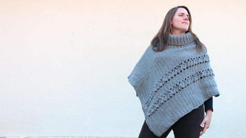 poncho crochet easy rectangles free pattern