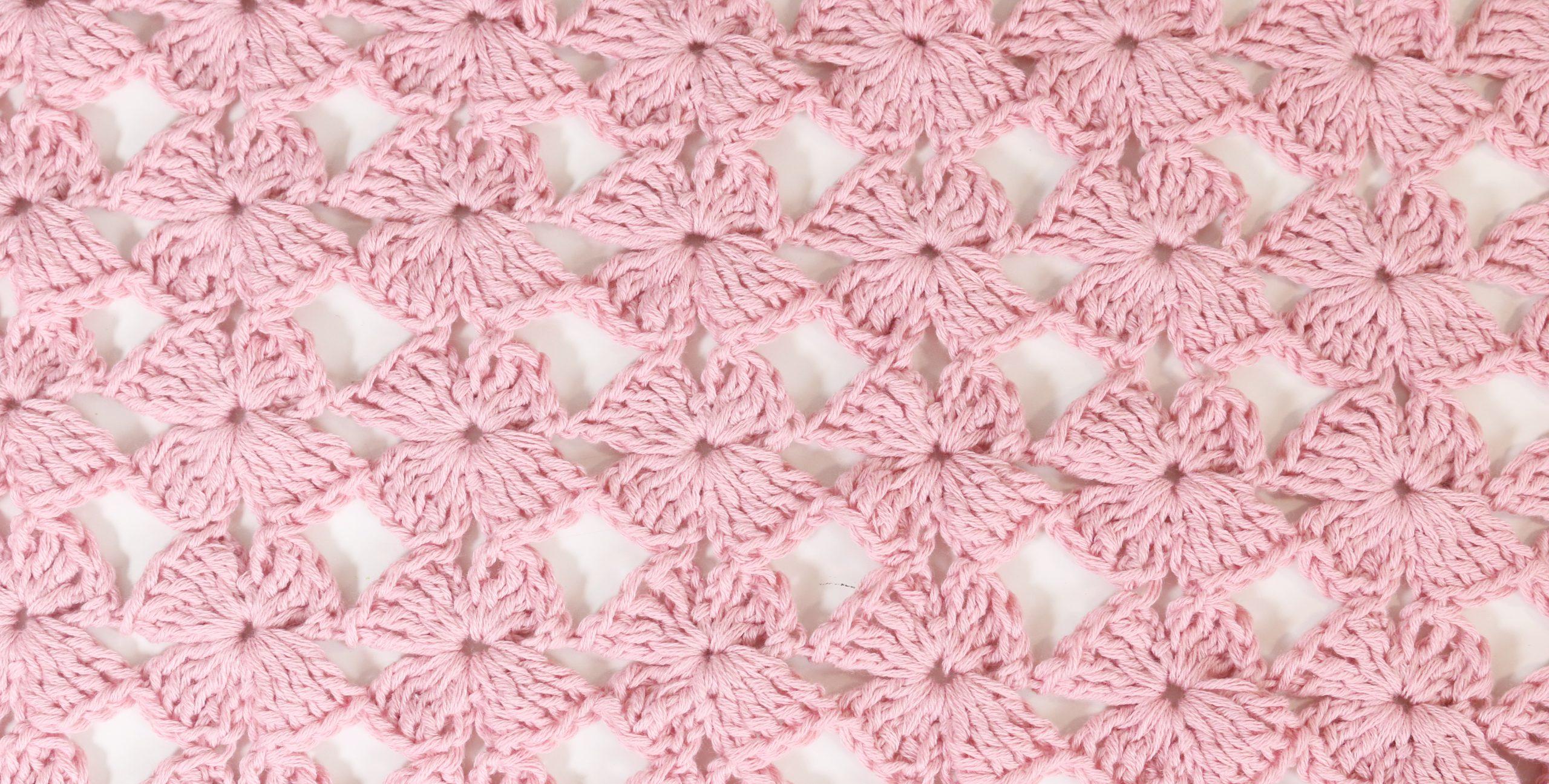 flowers stitch crochet free pattern