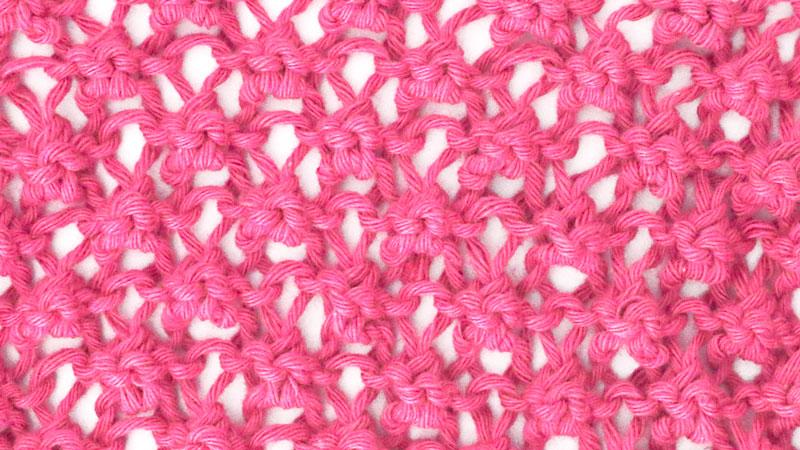 raspberry knitting stitch free pattern