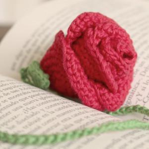 crochet rose bookmark free pattern