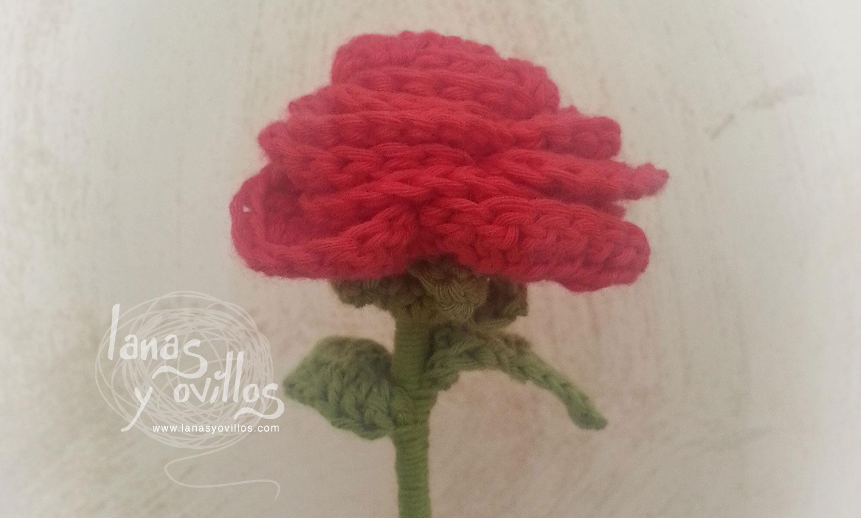 rose crochet flower free pattern