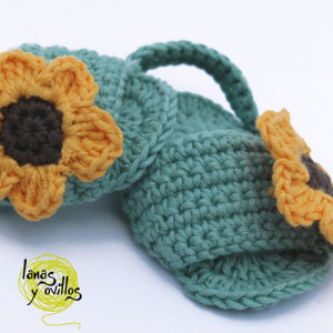 baby crochet sandals shoes free pattern