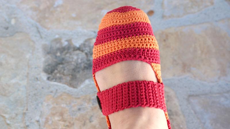 free crochet slippers free pattern