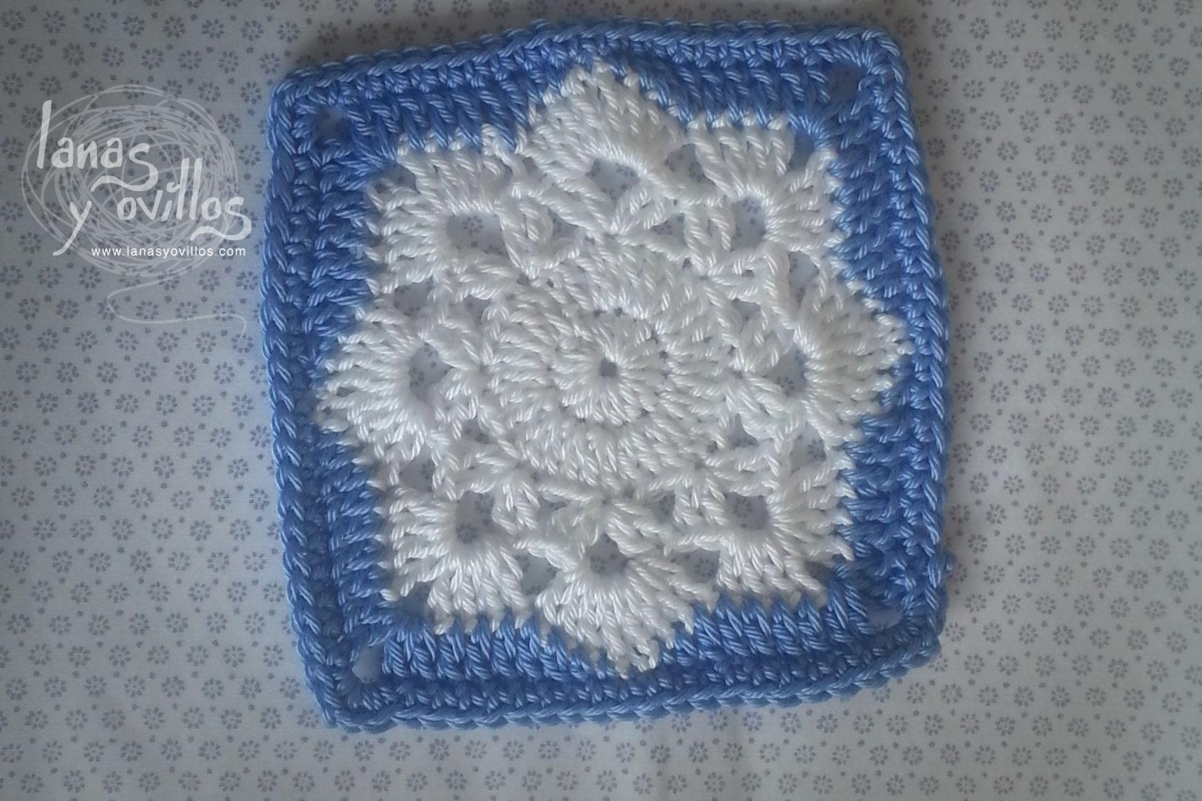 snowflake granny square crochet