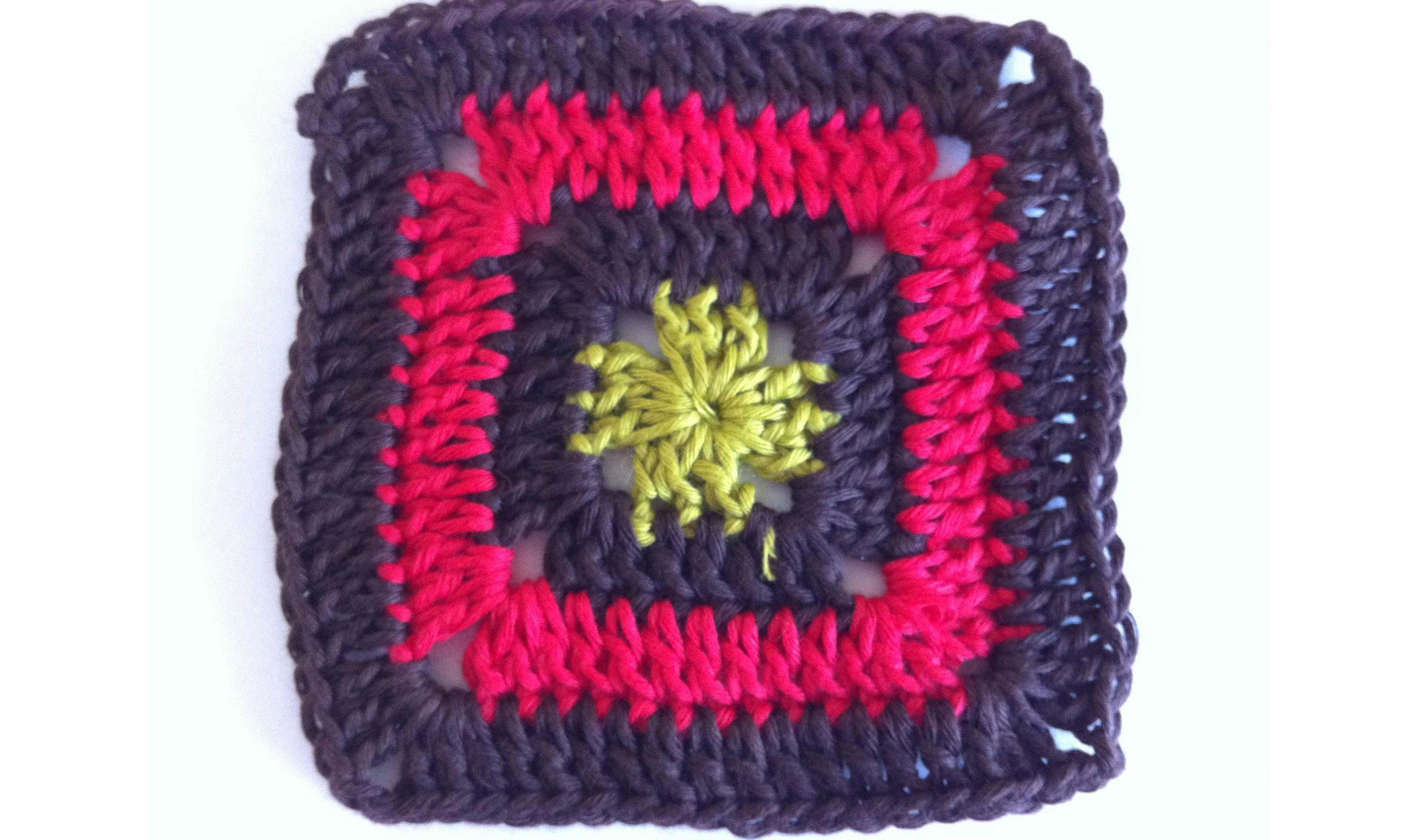 crochet granny square solid free pattern