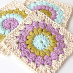 sunburst free crochet pattern granny square
