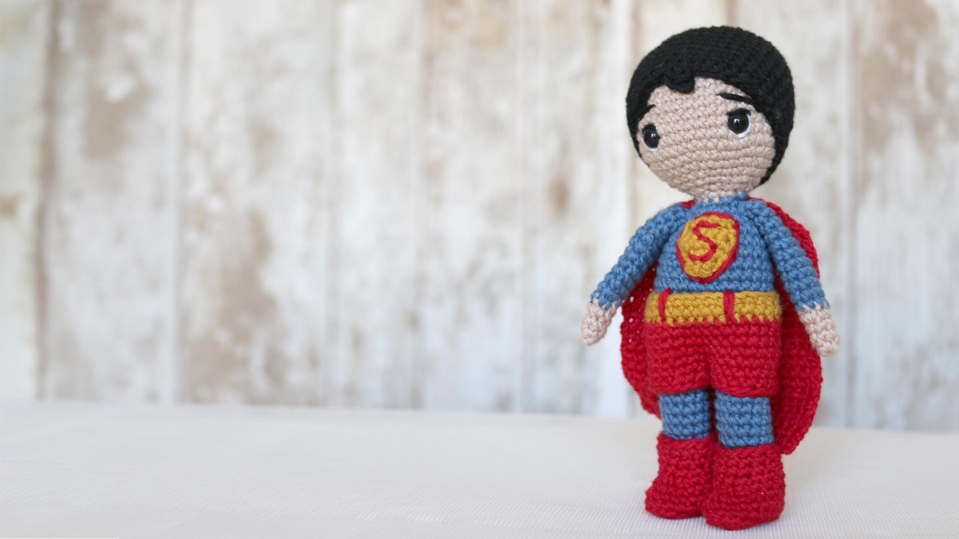 superman marvel crochet amigurumi free pattern