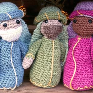 three wise men nativity christmas amigurumi crochet free pattern