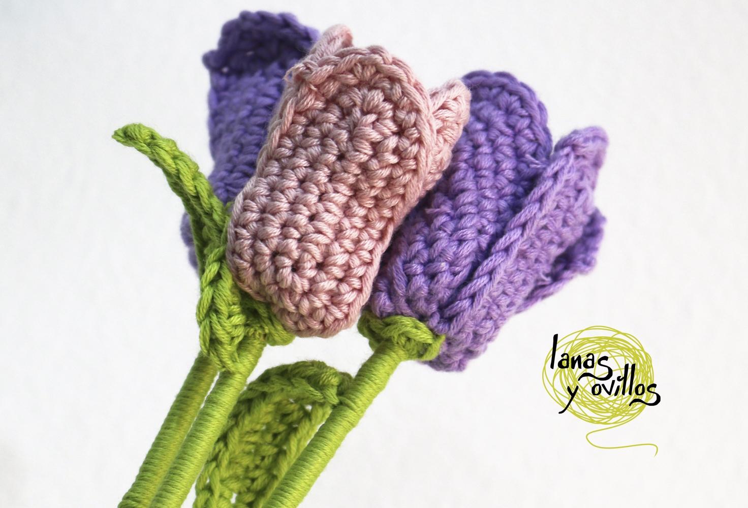 tulip crochet free pattern flower