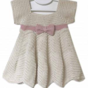 baby crochet dress girl free pattern