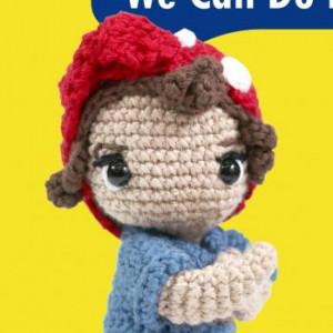 we can do it feminist woman amigurumi crochet free pattern