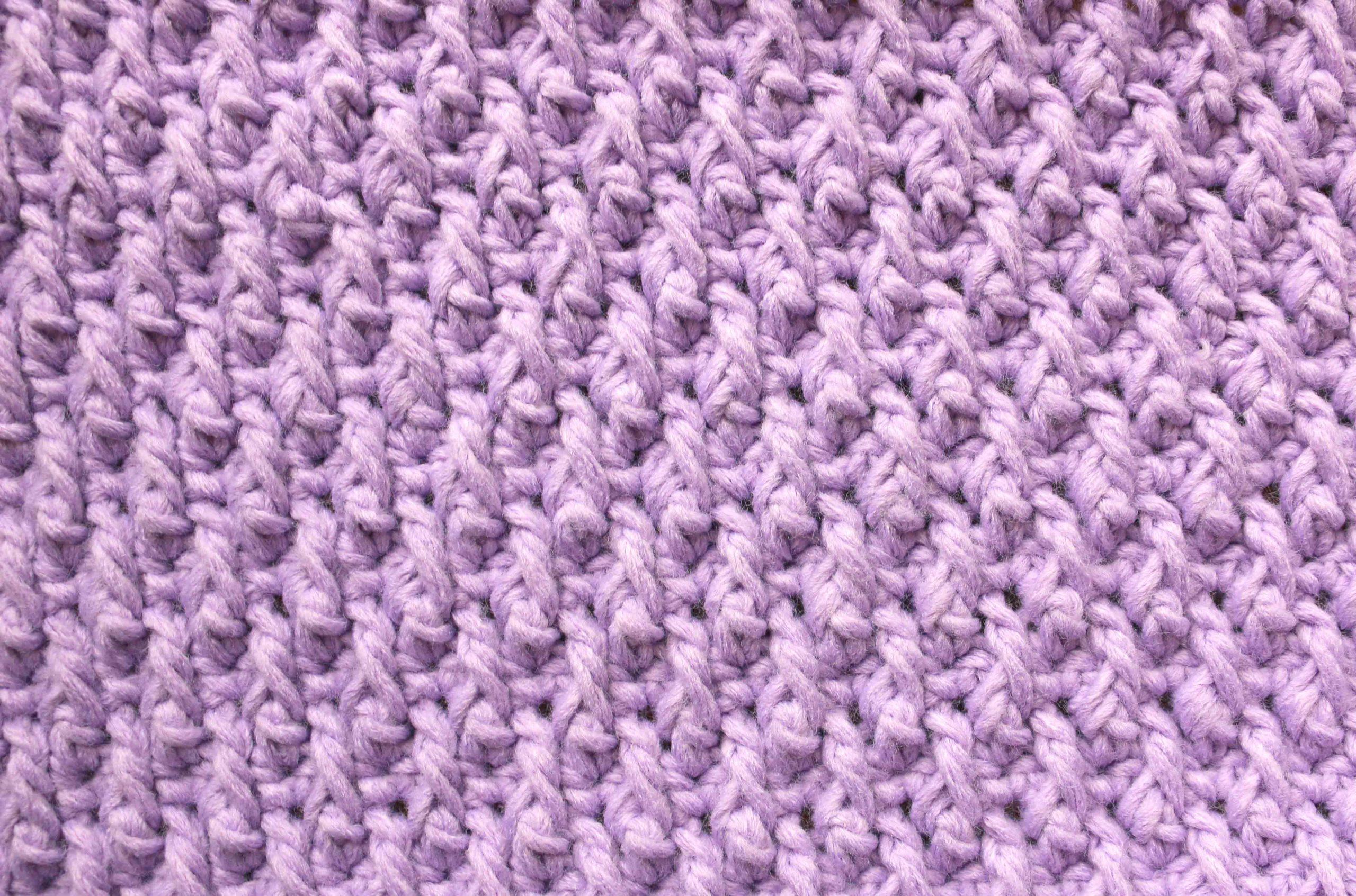 alpine stitch punto alpino crochet ganchillo patron gratis free pattern