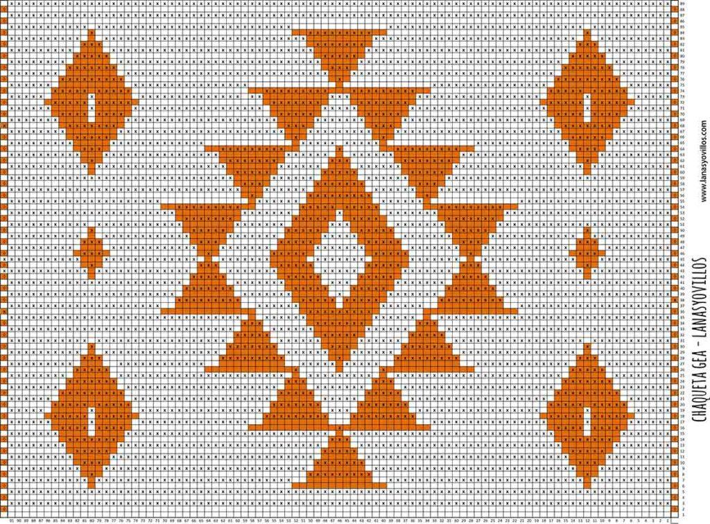 mosaic crochet free pattern chart jacket gea chaqueta ganchillo