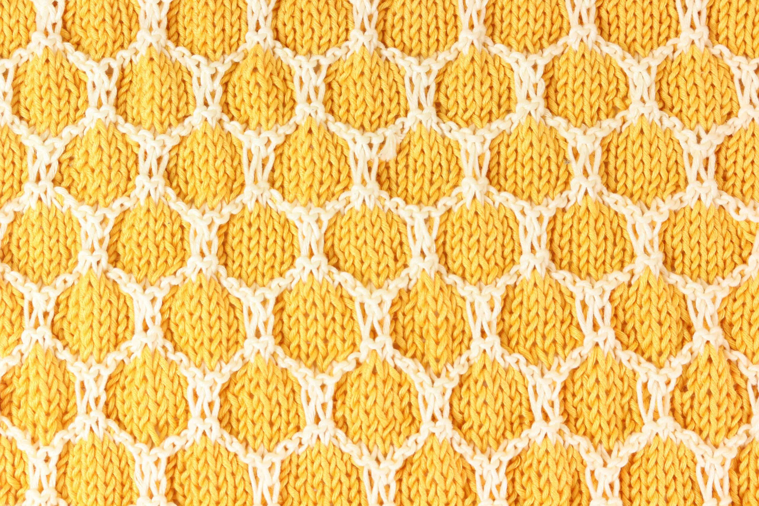 honeycomb bee knitting pattern patron gratis nido de abeja tejido