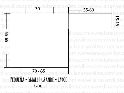 tabla medidas sizes jummper cardigan knitting sweater